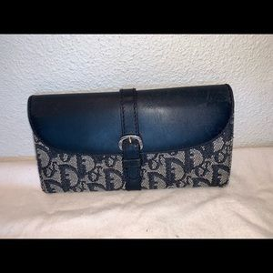 Authentic Christian Dior trotter wallet clutch bag